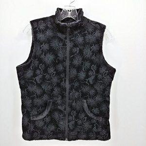 Columbia Dark Gray Reversible Fur & Corduroy Vest